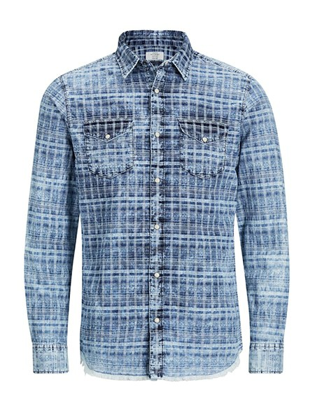 jack and jones skjorta blue denim
