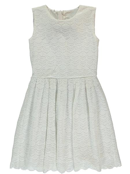 nameit marita spetsklänning vit