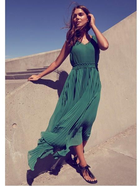 isay långklänning celene grön