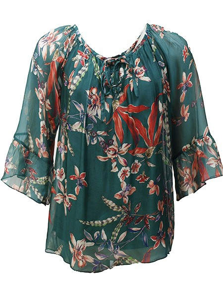 chica london blus flower