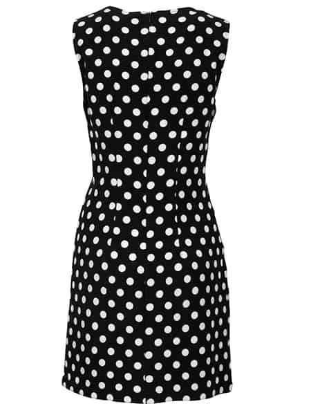 imitz prickig klänning svart vit