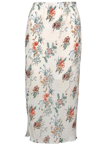 imitz maxi blommig kjol