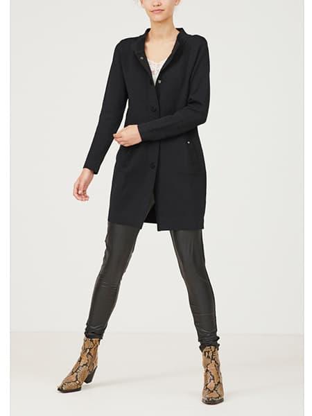 isay long cardigan svart