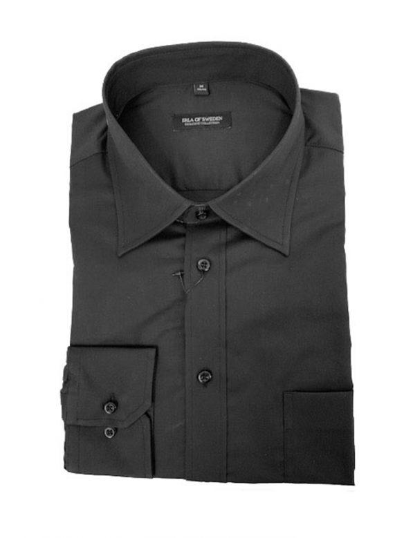 erla bomull svart skjorta