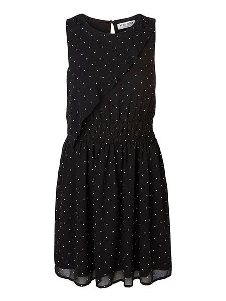 vero moda prickig klänning svart