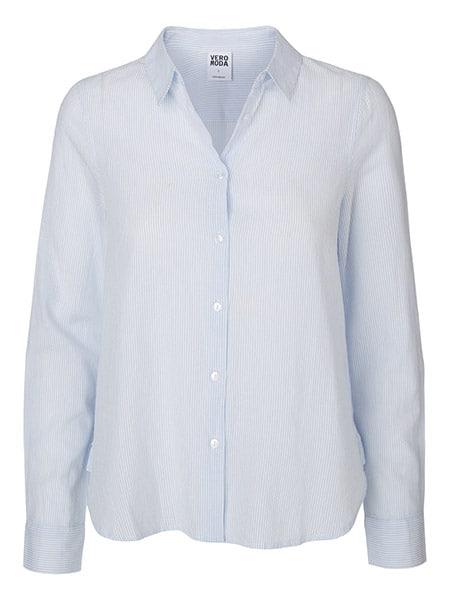 vero moda skjorta vit randig
