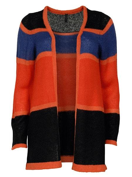 imitz cardigan orange combi