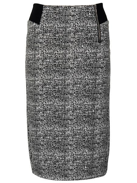imitz stretchig kjol svart