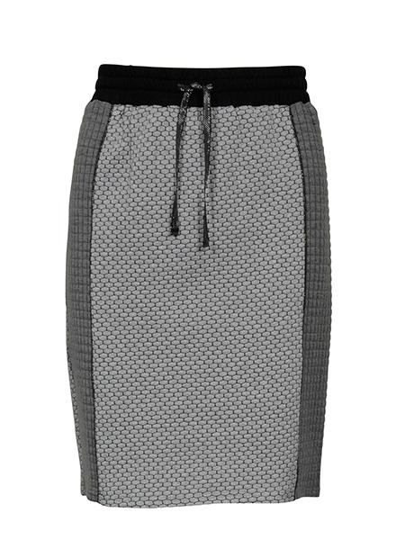 imitz jersey kjol grå