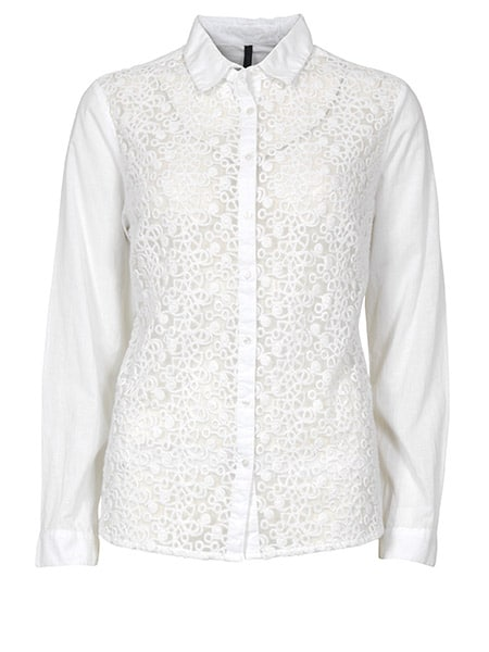 imitz spetsskjorta vit