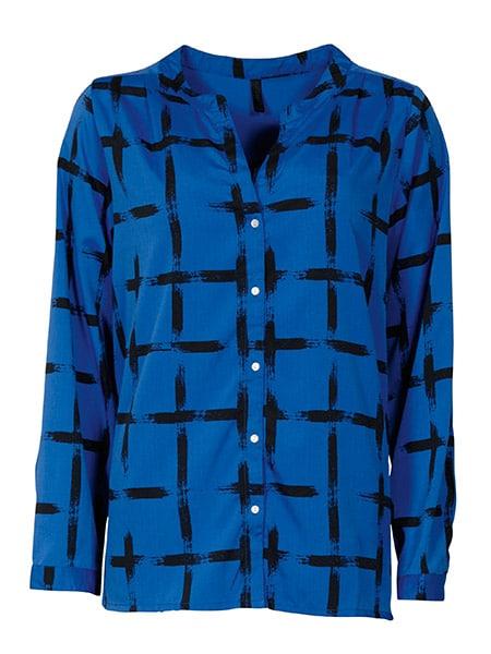 imitz långärmad skjorta blå