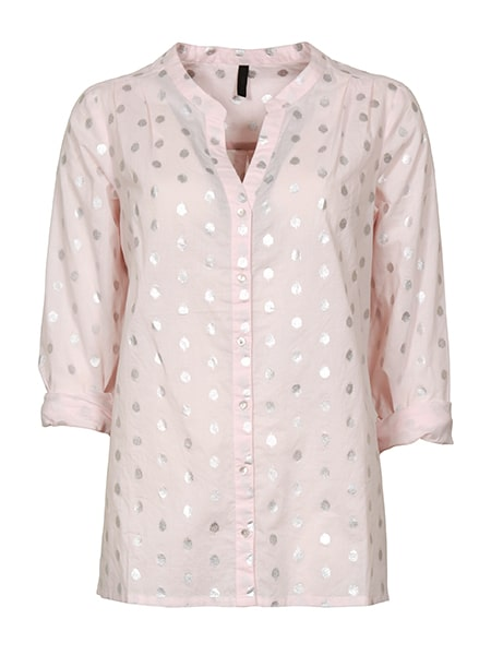 imitz låmgärmad skjorta rosa