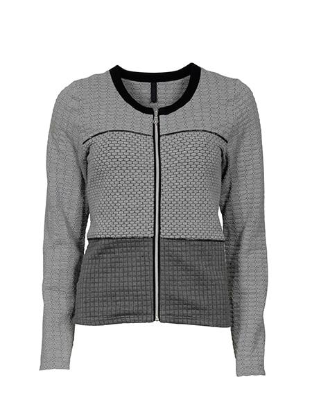 imitz jersey cardigan grey