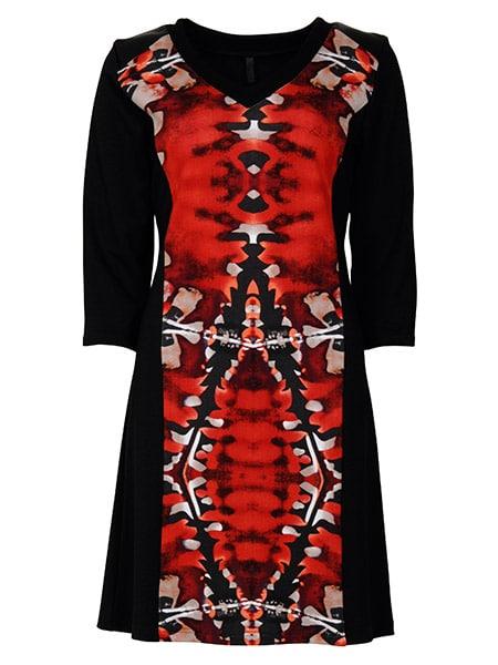 imitz klänning röd