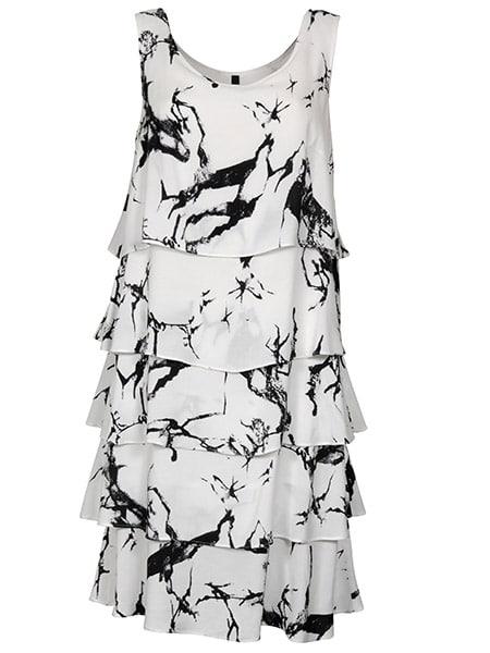 imitz klänning med volanger