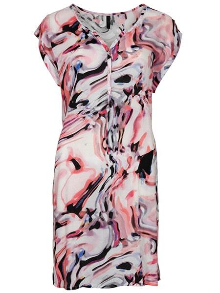 imitz mönstrad klänning coral