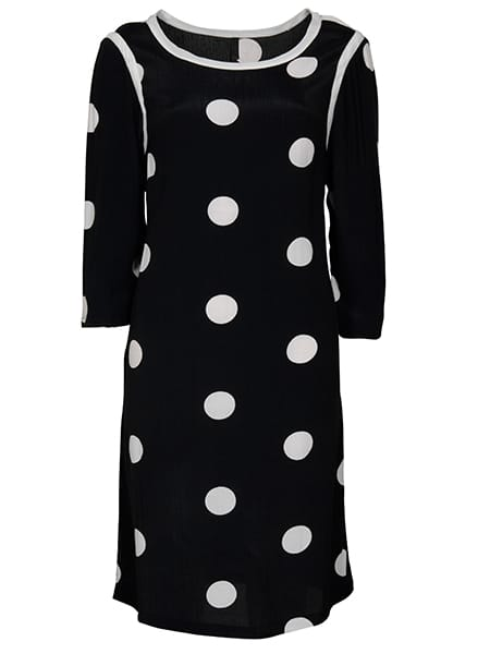 imitz prickig klänning trekvartsärm