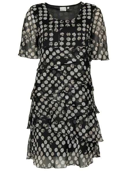 signature chiffong klänning svart