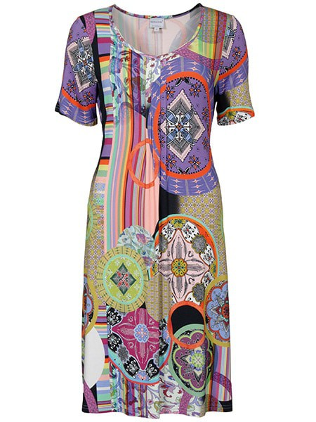signature mönstrad klänning
