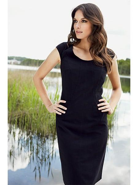 imitz figursydd klänning svart