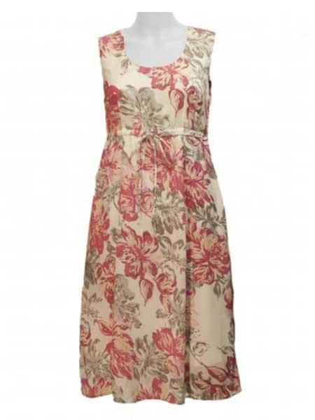 mingel rosa blommig klänning