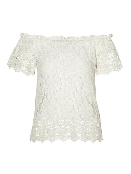 vero moda spets top gianna white