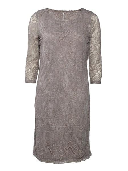 soyaconcept spetsklänning ljusbrun