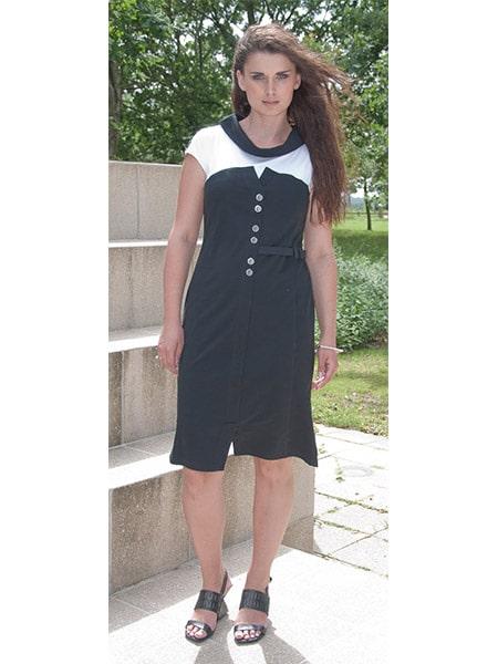 e-potempa kortärmad klänning