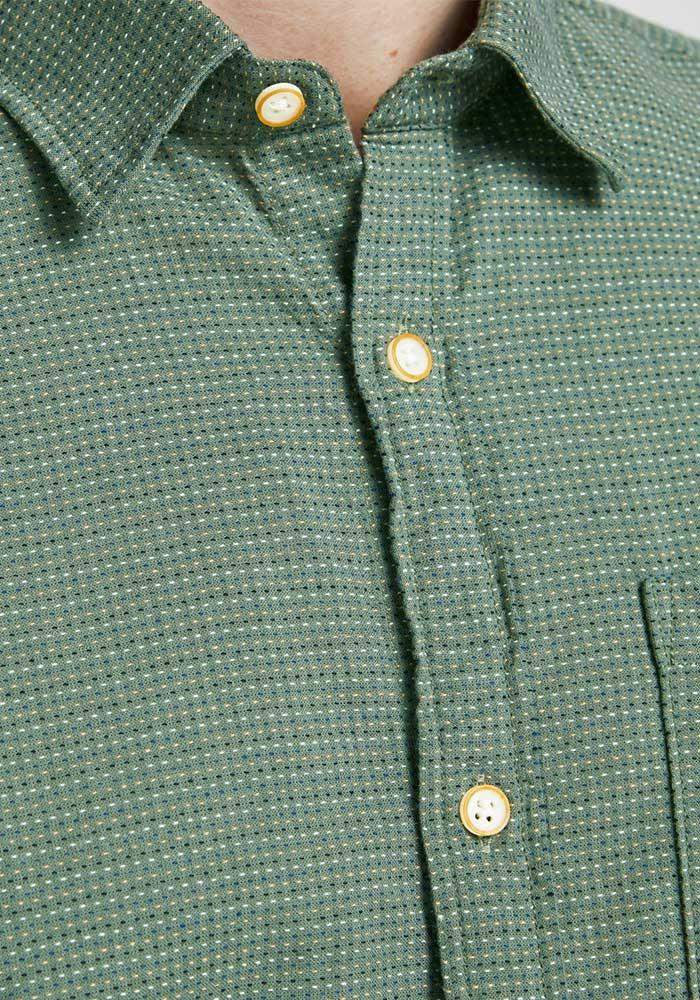 Kortärmad Skjorta Ekologisk Bomullsblandning