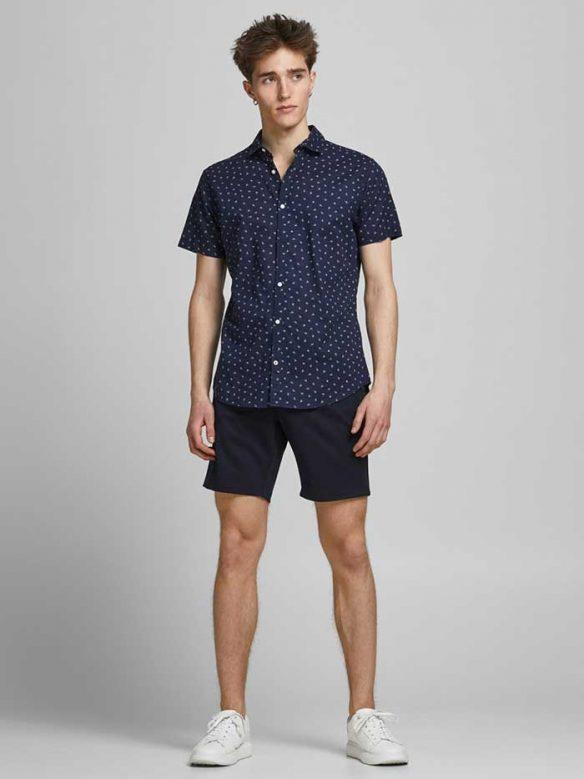 Kortärmad Sommarskjorta Navy Blazer