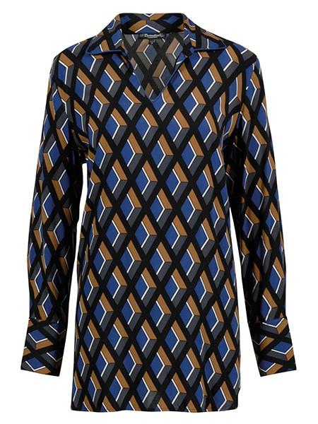 brandtex skjortblus ultra blue