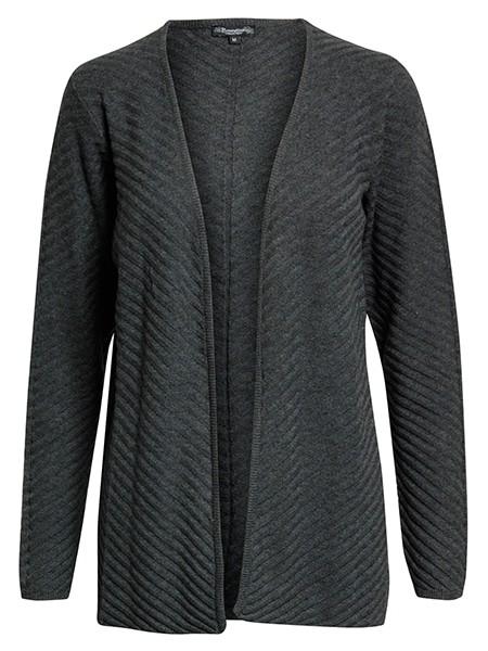 brandtex stickad cardigan grey