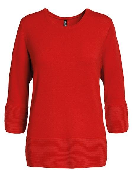 jensen stickad pullover röd