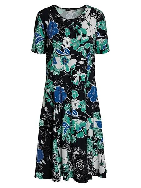 signature blommig klänning