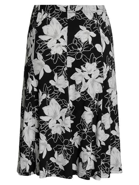 signature blommig kjol viskos