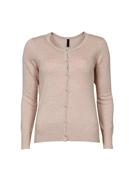 imitz cardigan cream tan melange