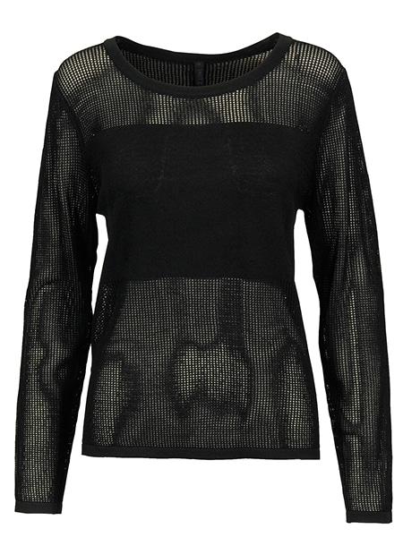 imitz hålstickad tröja black