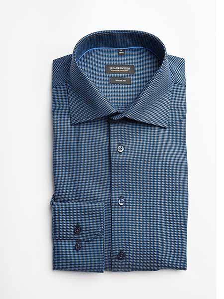erla of sweden skjorta blå mönstrad