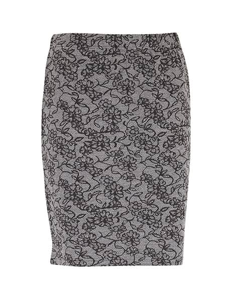 fransa blommig stretchig kjol