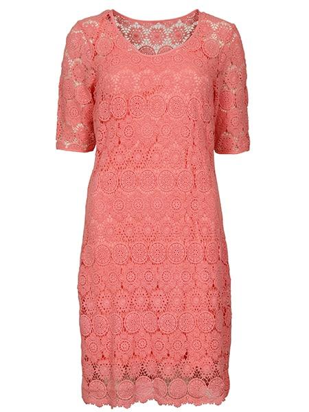 imitz spetsklänning summer coral