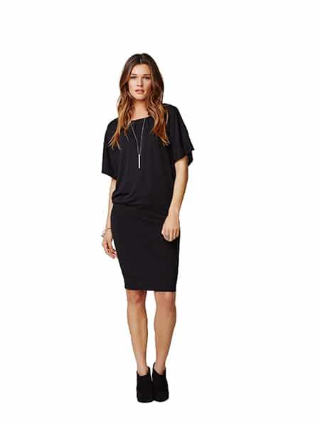 imitz klänning med raglanärm black