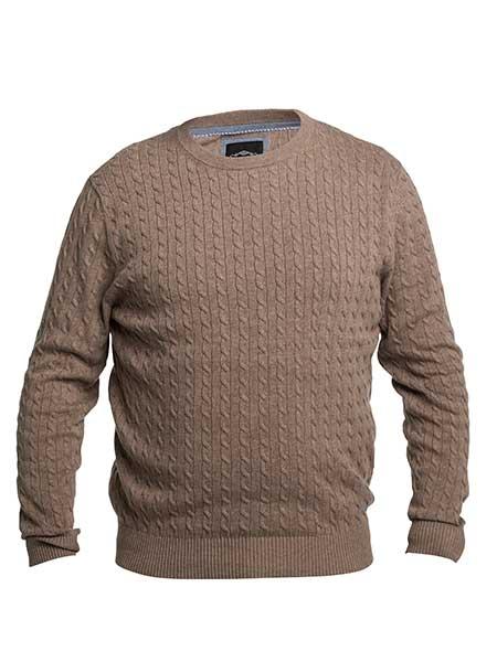 erla of sweden kabelstickad tröja beige