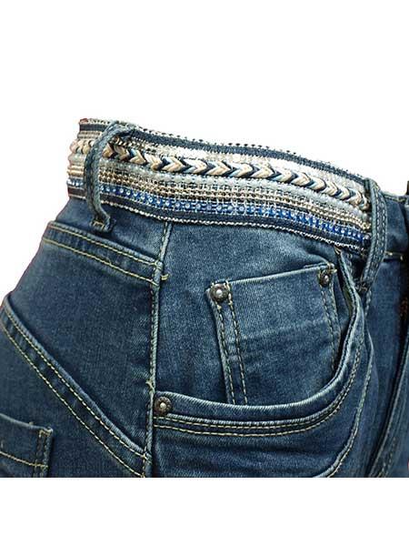 place du jour baggy jeans med glitter