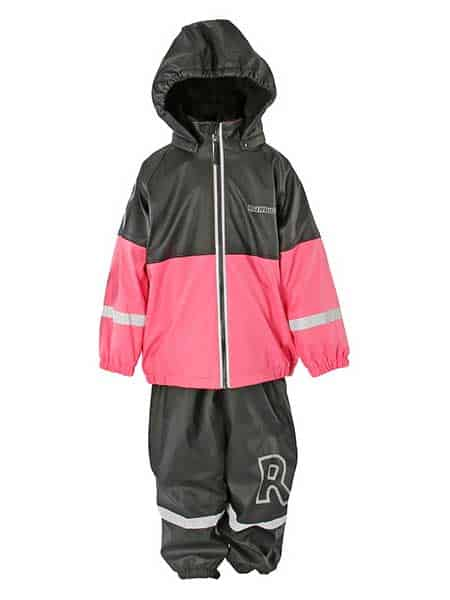 rainbusters fodrad regnset barn rosa