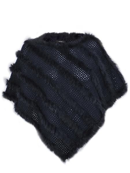 soyaconcept poncho päls black