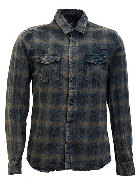 blend bomull skjorta khaki