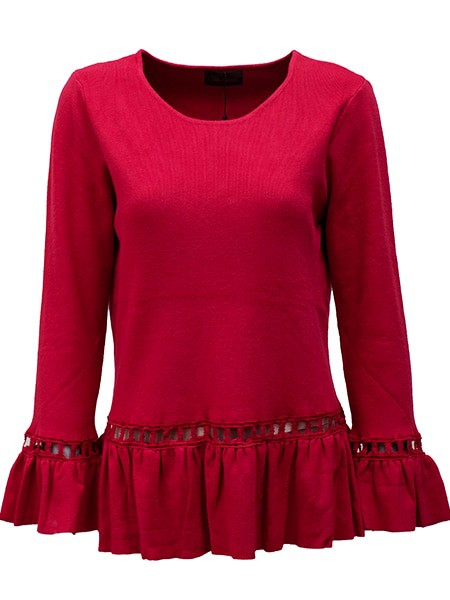 chica london pullover röd