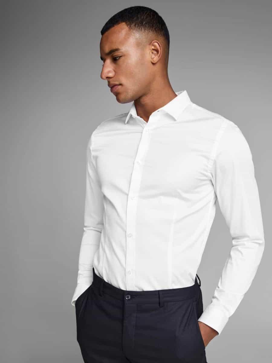 jack and jones vit skjorta