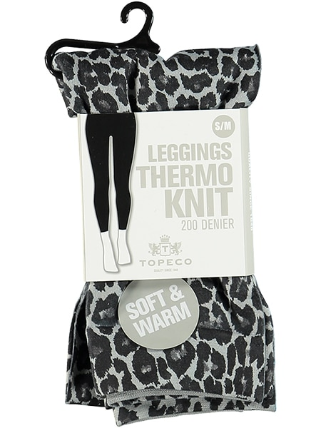 topeco leggings thermo knit leopard