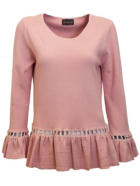 chica london pullover rosa